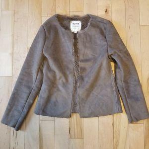 Dylan Los Angeles brown faux fur open jacket XS